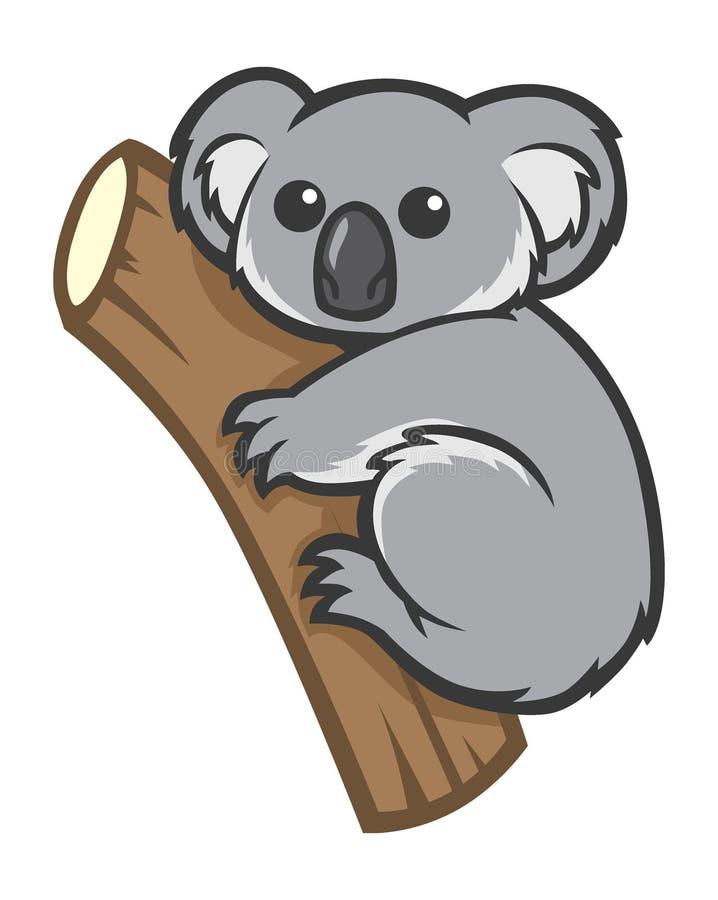 Cute koala on a tree vector illustration