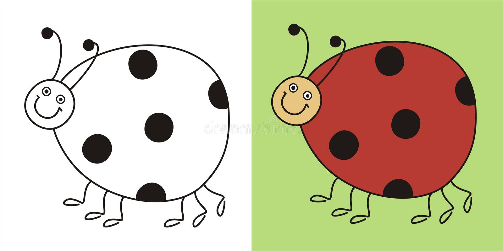 Download Cute lady bug stock vector. Image of dots, bird, black - 16427649
