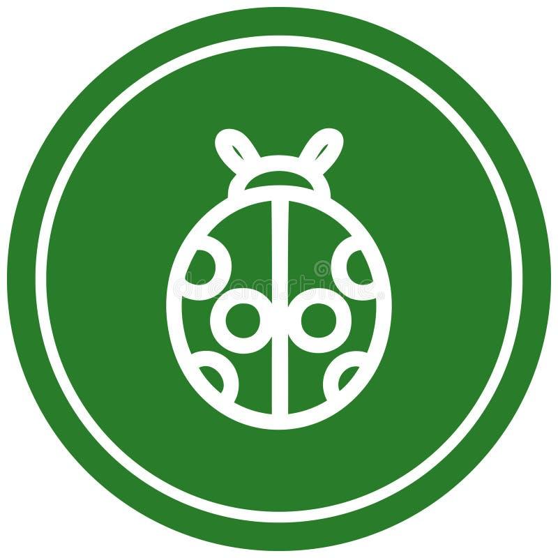 Cute ladybug circular icon. A creative illustrated cute ladybug circular icon image stock illustration