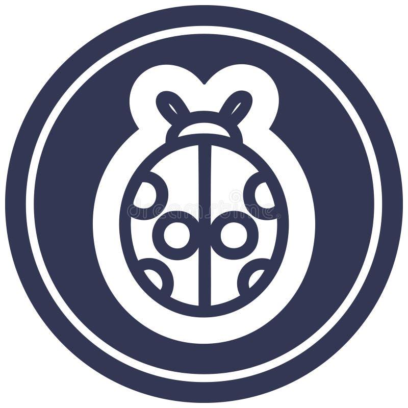 Cute ladybug icon. A creative illustrated cute ladybug icon image vector illustration