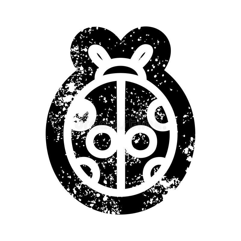 Cute ladybug icon. A creative illustrated cute ladybug icon image stock illustration