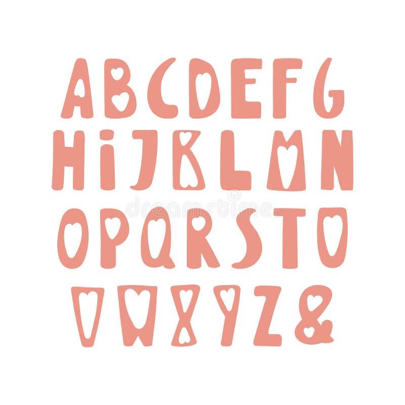 Cute latin alphabet vector illustration