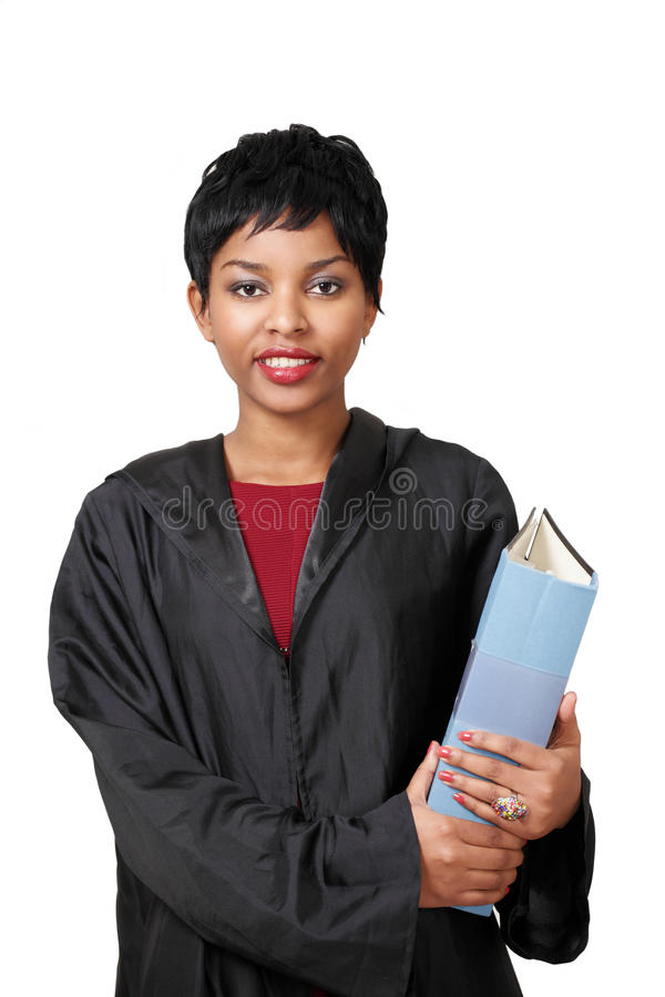 Cute lawyer girl stock images