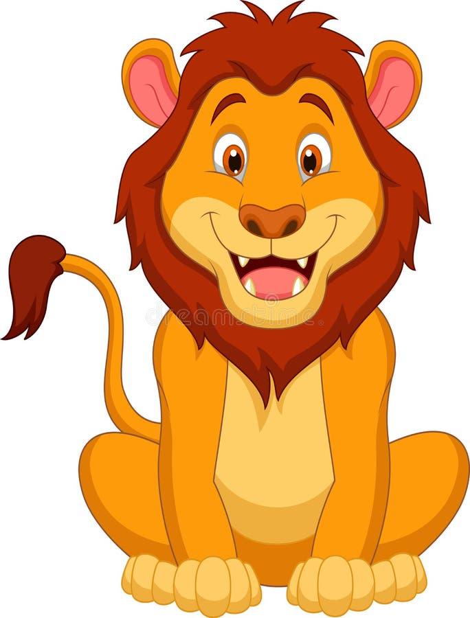 Cute lion cartoon stock vector. Illustration of lion ...
