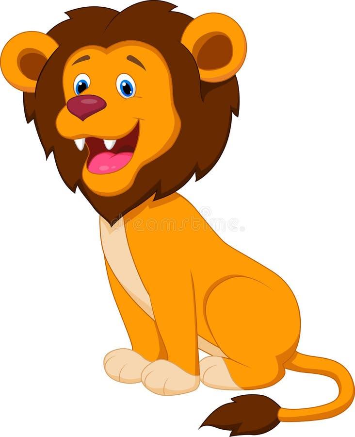 Cute lion cartoon stock vector image of mane feline