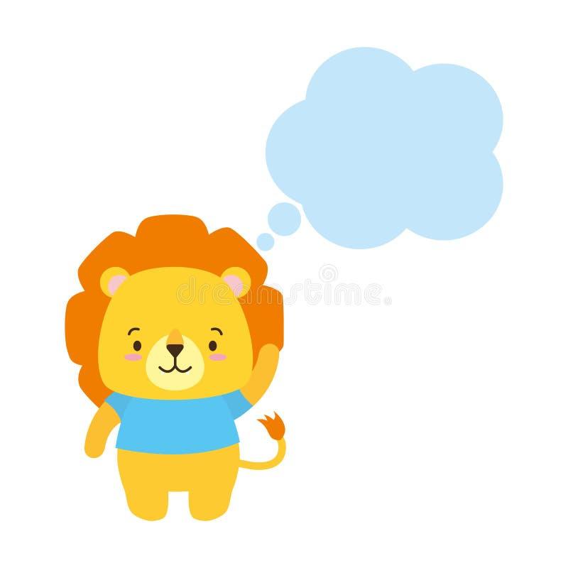 Cute animal cartoon stock image