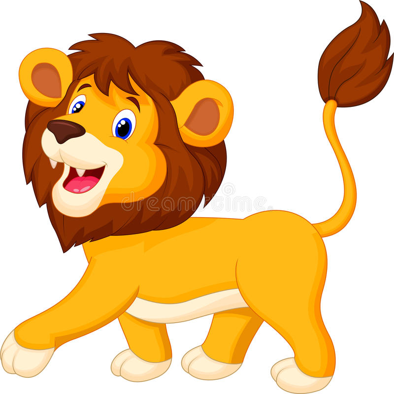 cute lion cartoon walking stock vector illustration of cartoon rh dreamstime com lion cartoon images free lion cartoon images