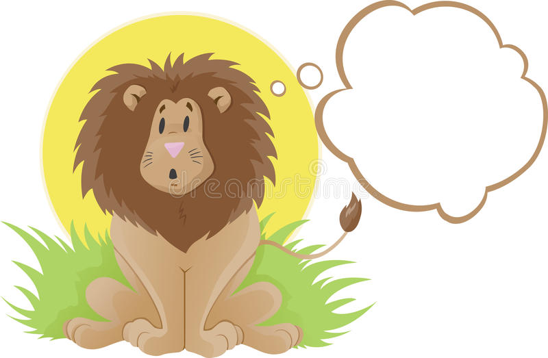 Download Cute Lion Thinker Royalty Free Stock Image - Image: 15146586