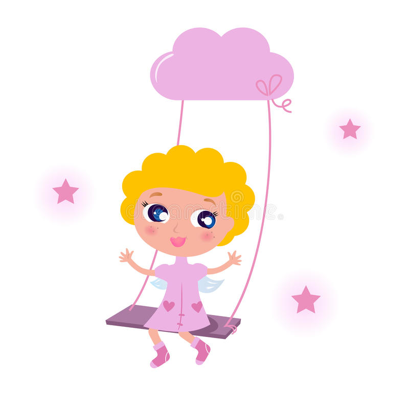 Download Cute little angel child stock vector. Image of greeting - 20636012