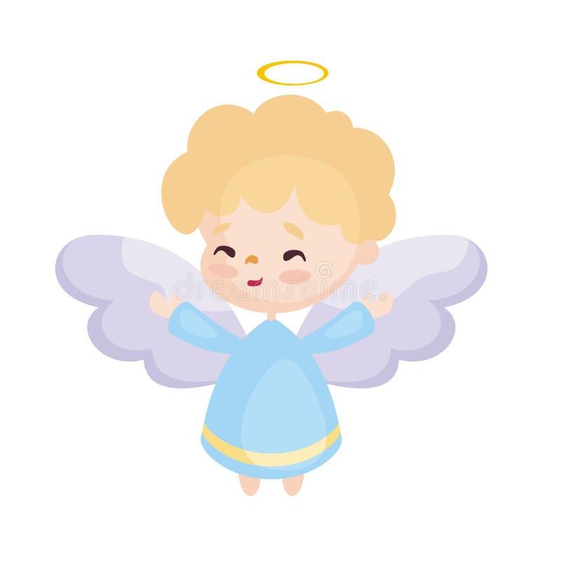 Cute little angel stock illustration