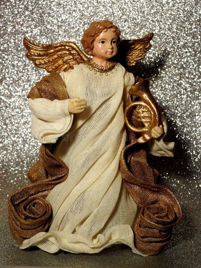Cute little angel Gabriel stock photography