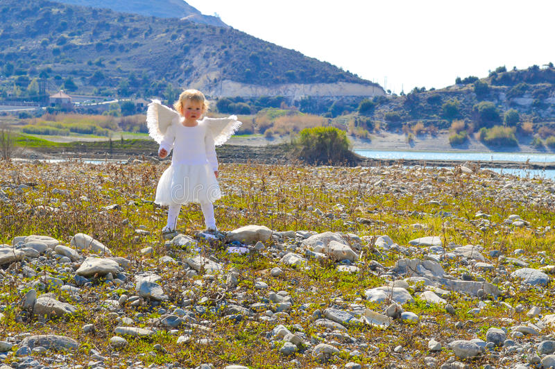 Download Cute Little Angel Girl Came From Heaven Stock Image - Image of came, majestic: 37651211