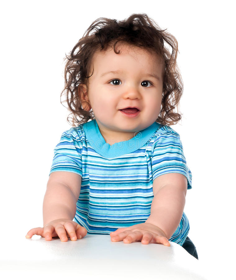 Cute little baby stock photos