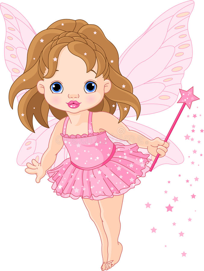 Download Cute little baby fairy stock vector. Image of birthday - 17789773