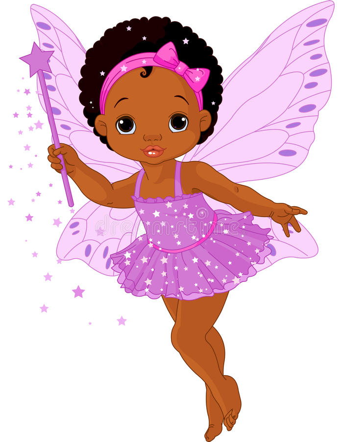 Cute little baby fairy. Illustration of Cute little baby fairy in fly stock illustration