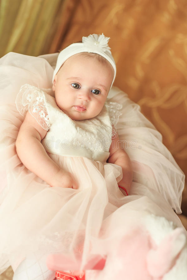 Cute little baby girl royalty free stock photo