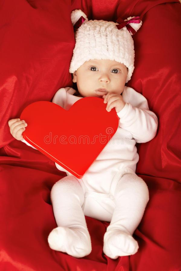 Download Cute Little Baby With Heart Stock Photos - Image: 34385223