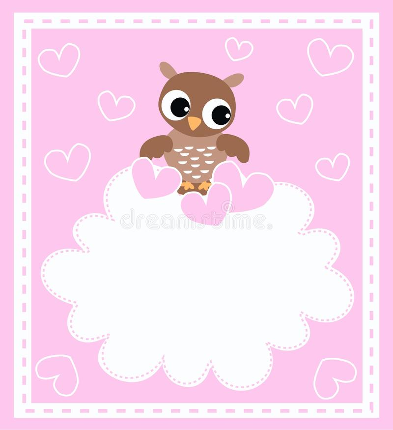 a cute little baby owl royalty free stock image