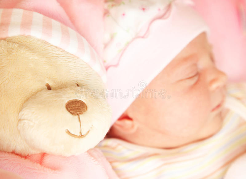 Download Cute little baby sleeping stock image. Image of child - 17730357