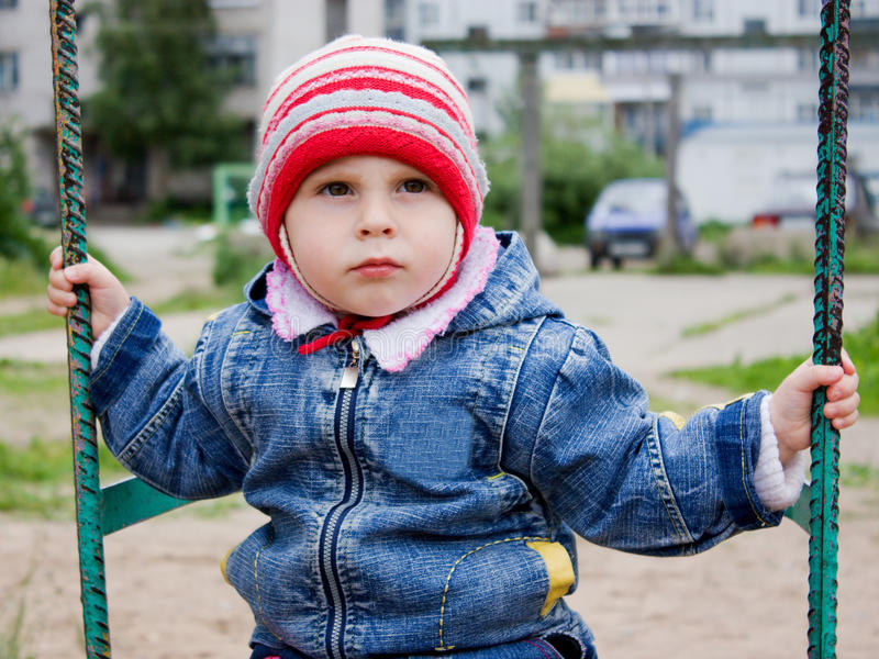 Download Cute Little Baby At The Swing Stock Image - Image: 27552197