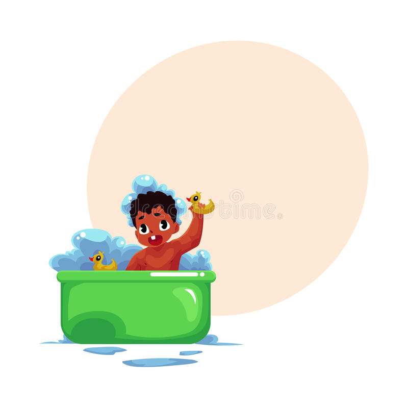 Baby in the bath tub By Optimistic Kids Art | TheHungryJPEG.com