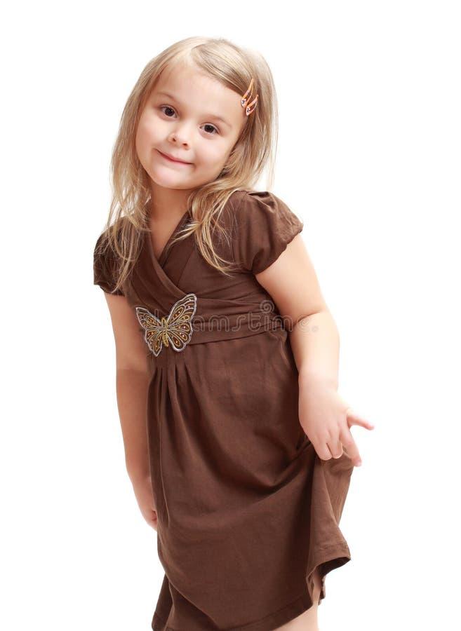 Cute little blond girl stock photography