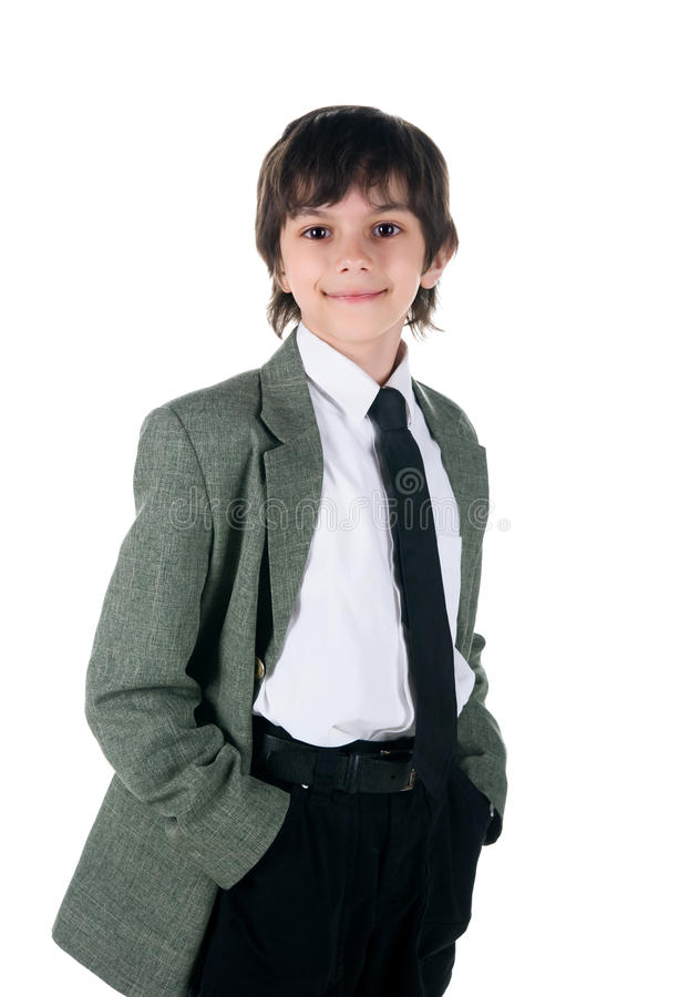 Free Cute Little Boy In Bussiness Style Royalty Free Stock Photography - 14008667