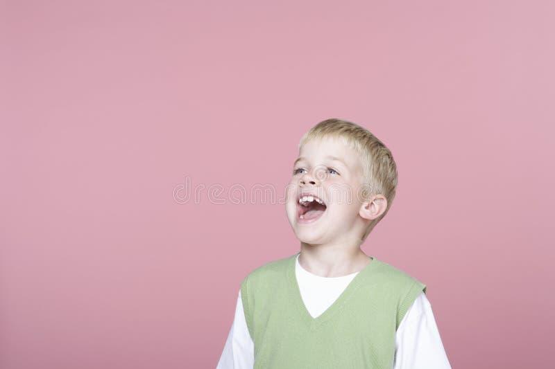 Cute Little Boy Screaming Royalty Free Stock Photos