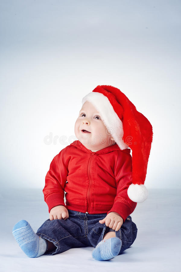 Free Cute Little Boy With Santa Hat Royalty Free Stock Photo - 47350005