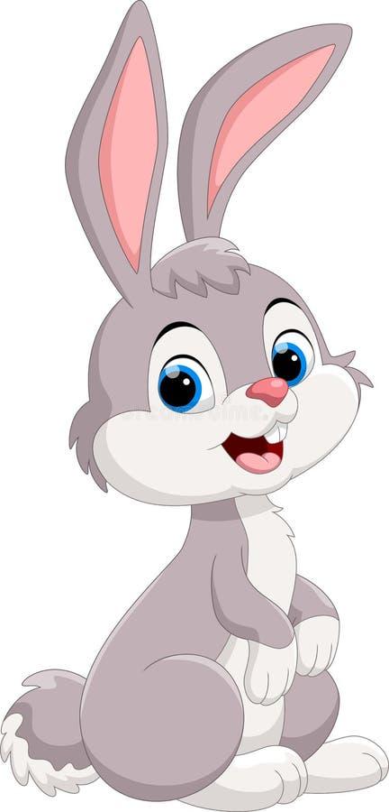 Cute little bunny cartoon vector illustration