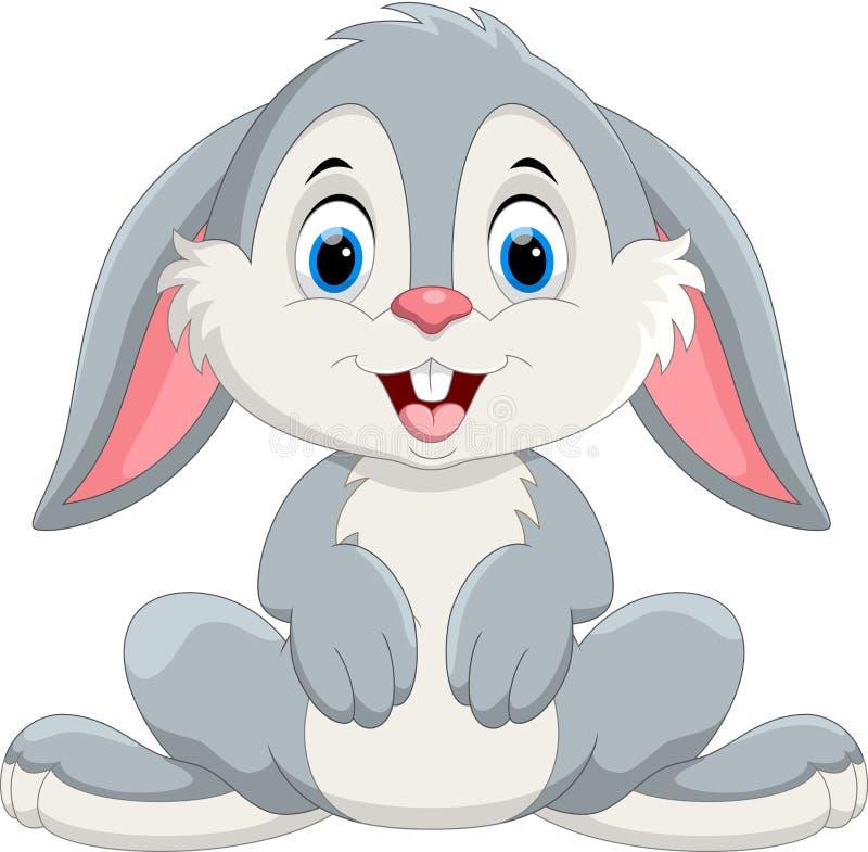 Cute little bunny cartoon stock illustration
