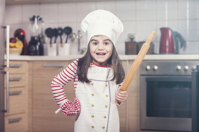 Cute little chef stock image