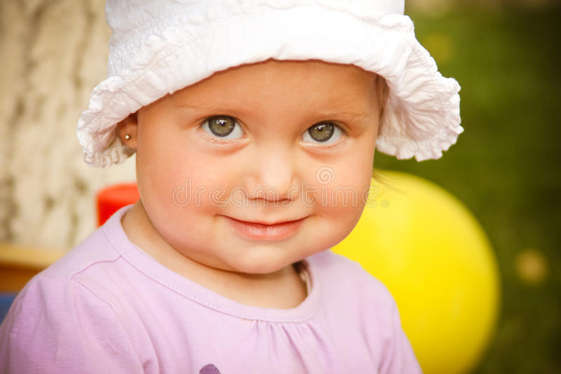 Cute little child girl royalty free stock photo