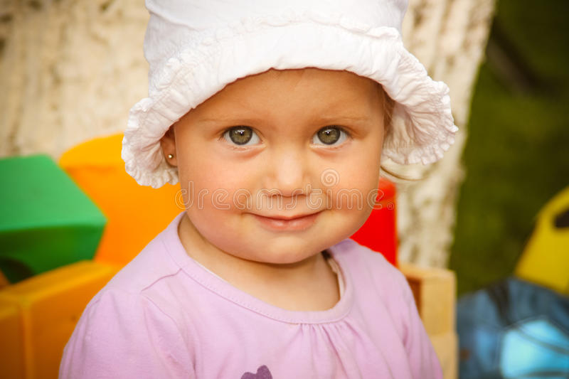 Cute little child girl royalty free stock photos