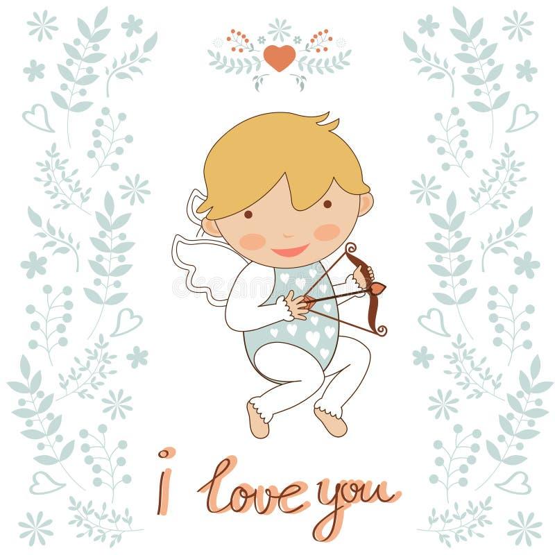 Cute little cupid. Illustration of cute little cupid royalty free illustration