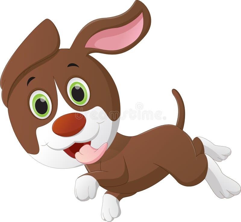Cute little dog cartoon. Vector illustration cute little dog cartoon isolated on white royalty free illustration
