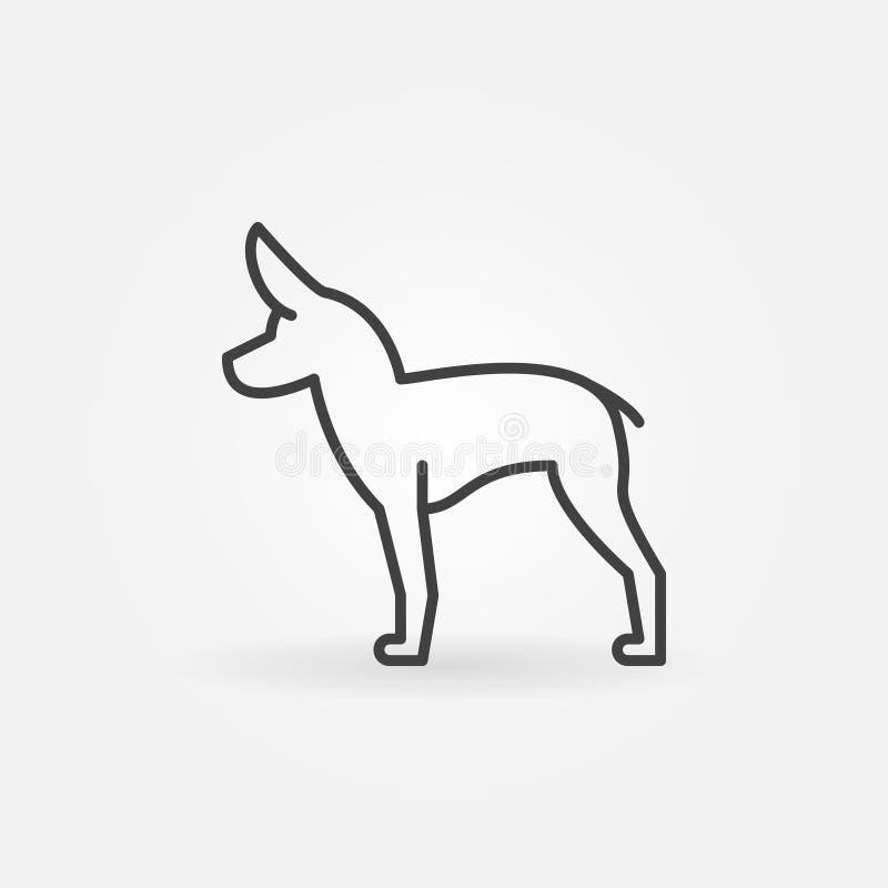 Cute little dog vector icon stock illustration
