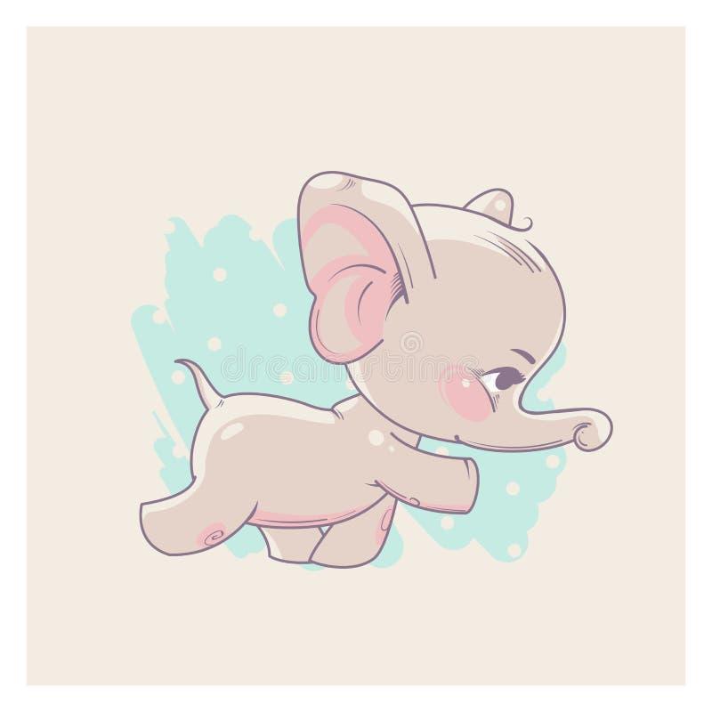 Free Cute Little Elephant As Baby Girl. Stock Photos - 110503303