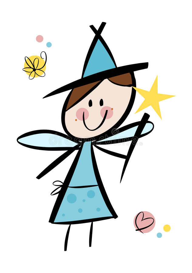 Download Cute little fairy girl stock vector. Illustration of flower - 24158305