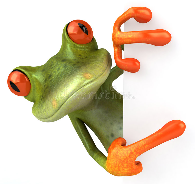 Cute little frog royalty free stock photography