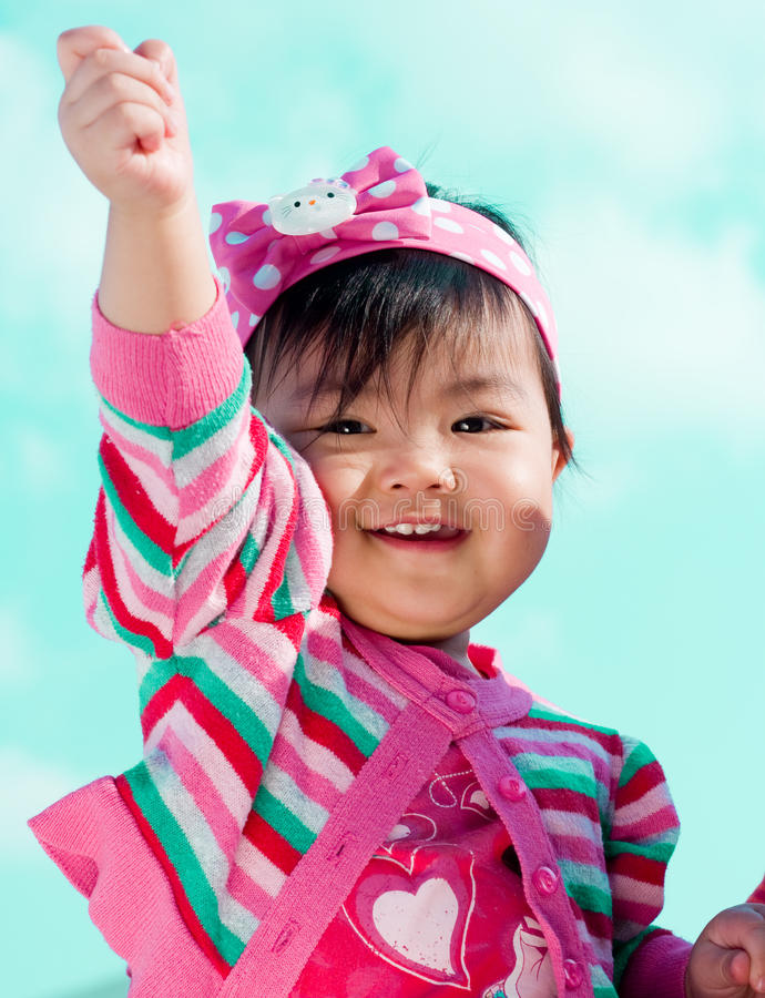 Download Cute little girl stock image. Image of color, idea, daughter - 17183923