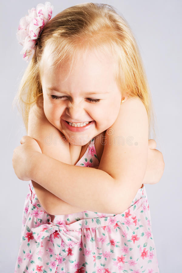 Download Cute little girl stock image. Image of playful, expression - 20515537