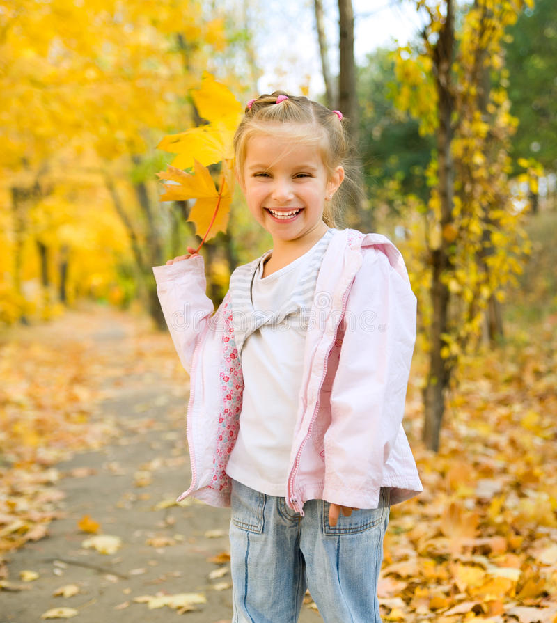 Download Cute little girl stock image. Image of young, little - 21521661