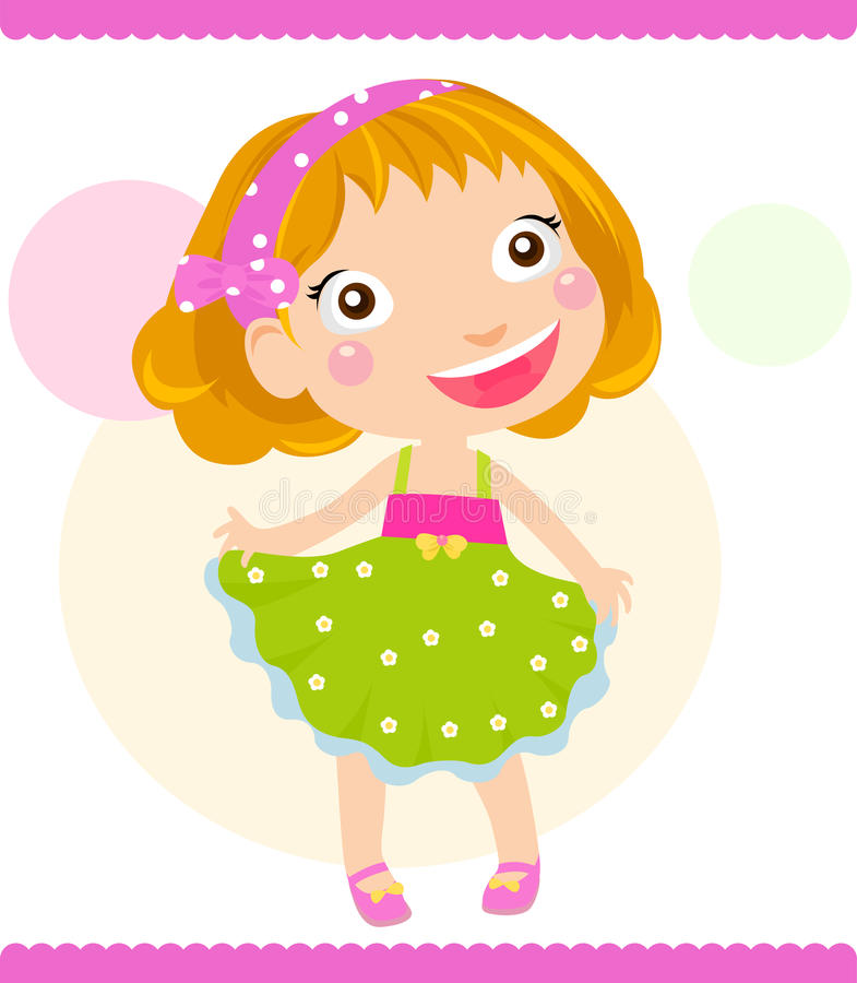 Download Cute little girl stock vector. Image of fashionable, friend - 23948578