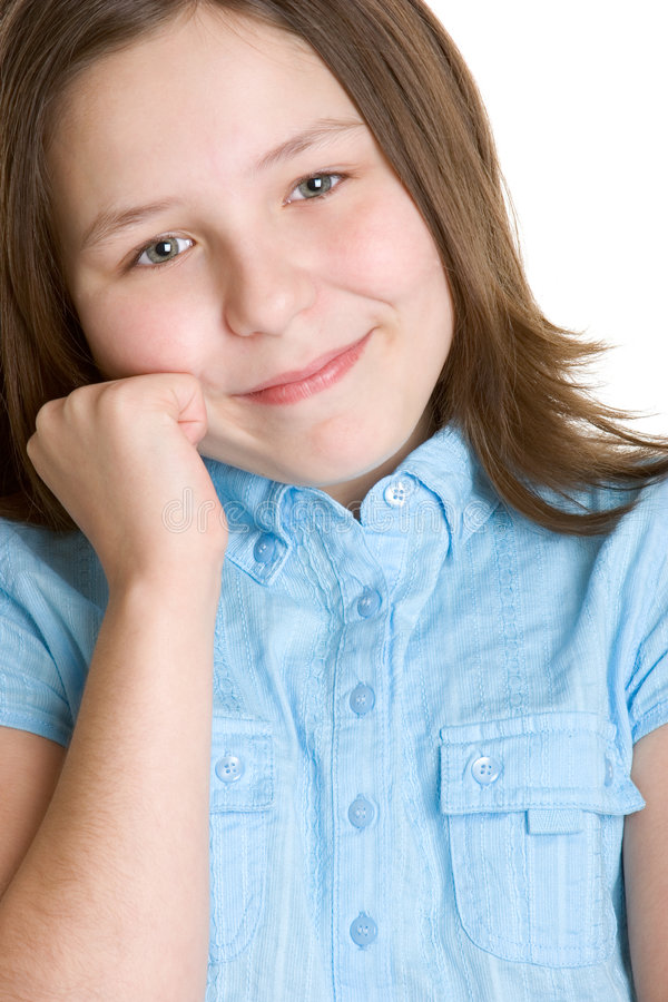 Cute Little Girl. Isolated cute smiling little girl stock photography