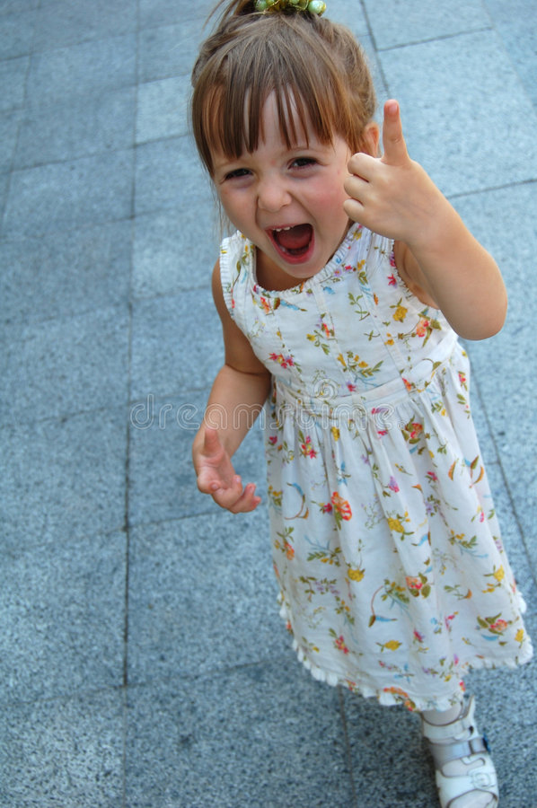 Cute little girl royalty free stock photography