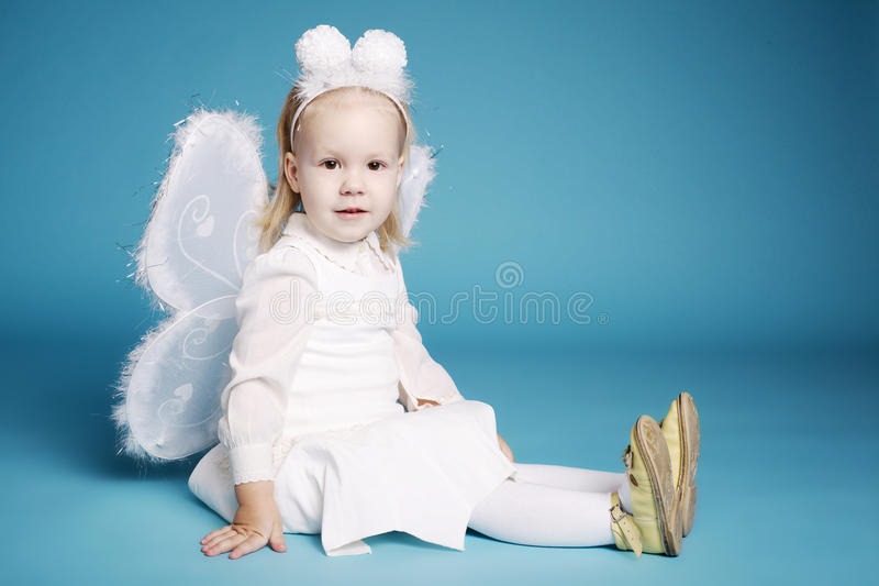 Download Cute Little Girl With Butterfly Costume Stock Image - Image: 37780995
