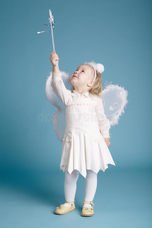 Cute Little Girl With Butterfly Costume Royalty Free Stock Photo