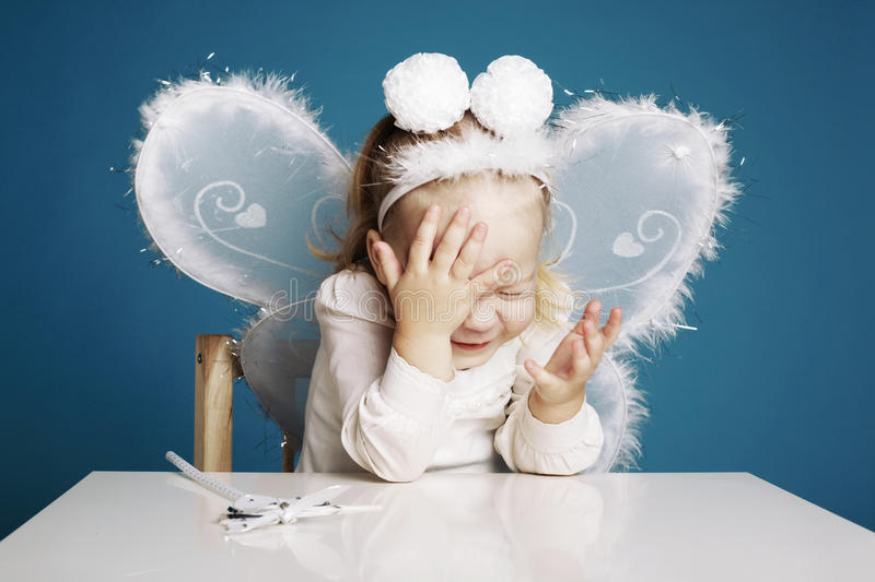 Download Cute Little Girl With Butterfly Costume Royalty Free Stock Photography - Image: 37781167