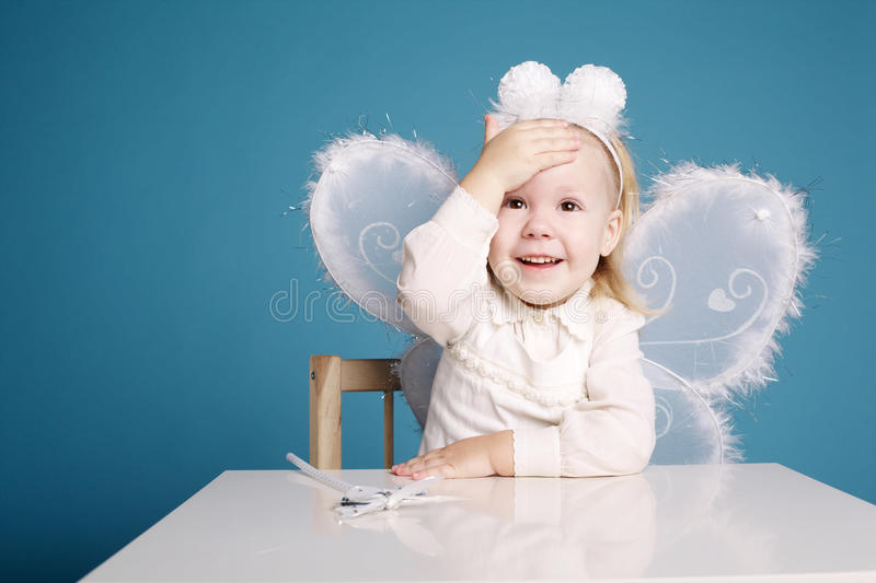 Download Cute Little Girl With Butterfly Costume Stock Photo - Image: 37781226